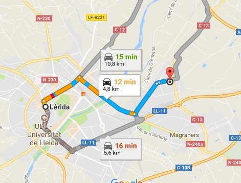 Cómo llegar a alquivisa Lleida